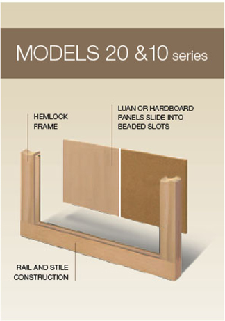 Models 20 & 30 Series Classic Wood Collection | Amelia Overhead Doors | (804)561-5979