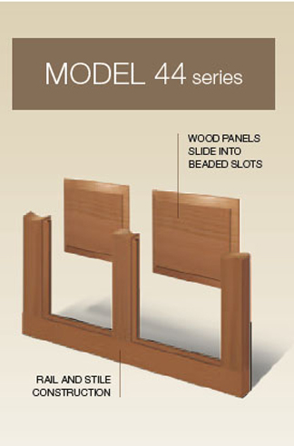 Model 44 Series Classic Wood Collection | Amelia Overhead Doors | (804)561-5979