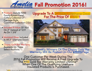 AOD Fall Promotion 2016 | Amelia Overhead Doors | (804) 561-5979