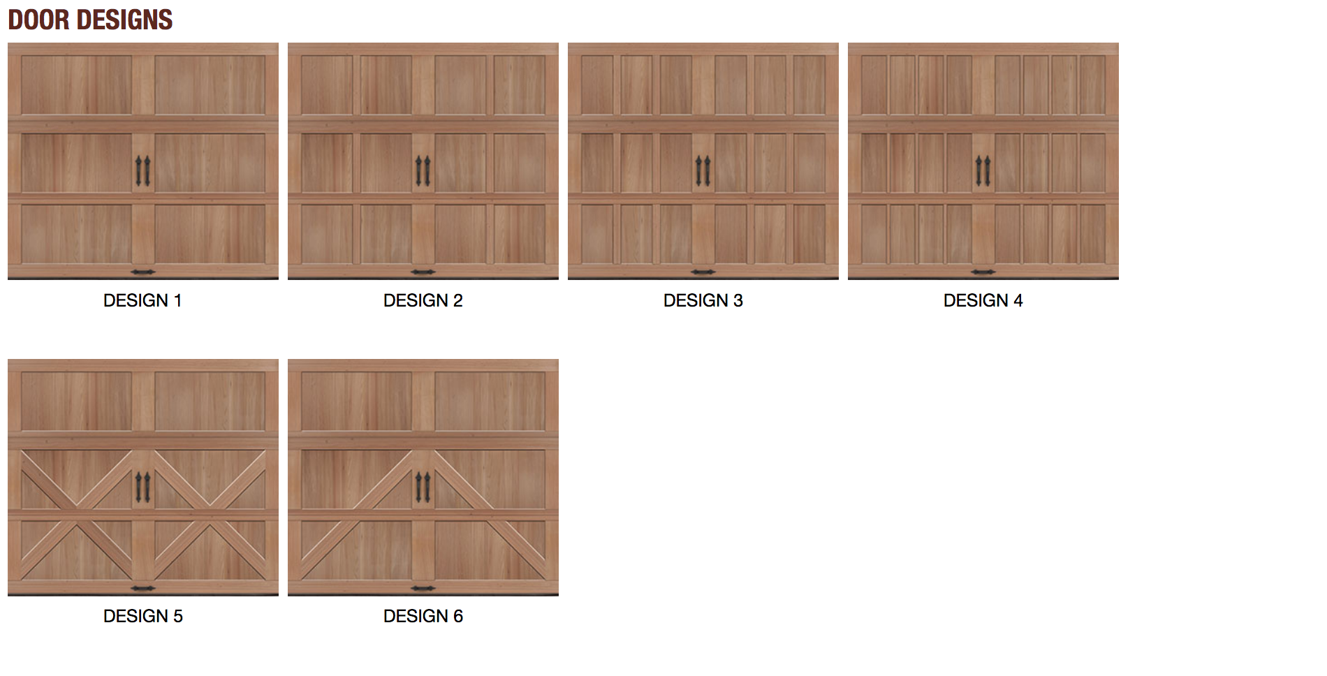 Reserve Collection Semi-Custom Series Door Options | Amelia Overhead Doors | (804) 561-5979