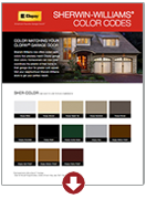 Sherwin Williams Color Codes | Amelia Overhead Doors | (804) 561-5979